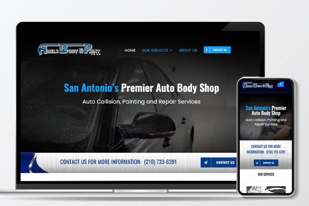Abel's Body Shop Website